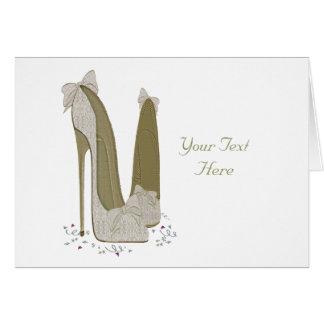 Personalisierte Party-Stilett-Schuh-Kunst Karte