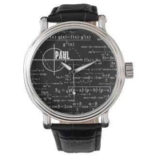 Personalisierte Physik-Geschenke für Physiker Uhr