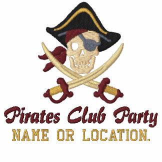 Personalisierte Piraten-Party-Stickerei Besticktes Polo Shirt