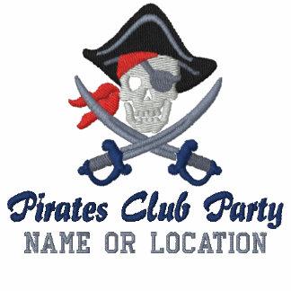 Personalisierte Piraten-Party-Stickerei Polo Shirt