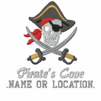 Personalisierte Piraten-Party-Stickerei Polohemd