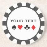 Personalisierte Poker-Chip-Untersetzer