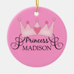 Personalisierte Prinzessin Christmas Ornament