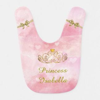 Personalisierte Prinzessin Isabella Bib, addieren Lätzchen