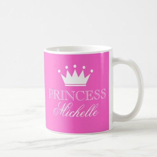 Tassen Personalisieren : Personalisierte prinzessin tasse im rosa mit zazzle