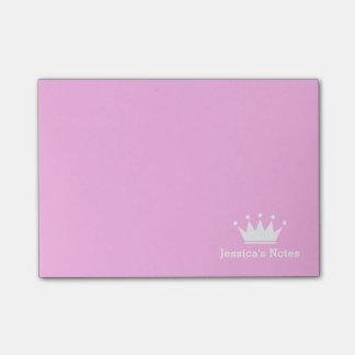 Personalisierte Prinzessinkronenrosa Posten-it® Post-it Klebezettel