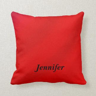 Personalisierte quadratische Kissen-Rot-Steigung Kissen