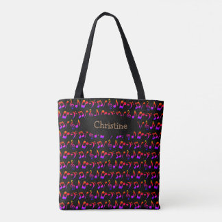 Personalisierte Regenbogen-Musik-Tasche (dunkel) Tasche