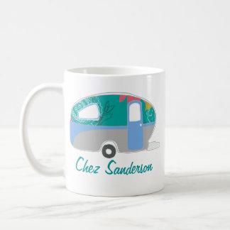 Personalisierte Retro Wohnwagen-Kunst-Tassen Kaffeetasse