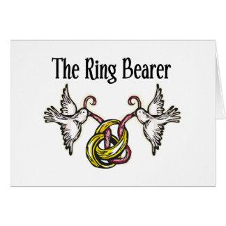 Personalisierte Ring-Träger-Geschenke Karte