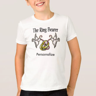 Personalisierte Ring-Träger-Geschenke T-Shirt