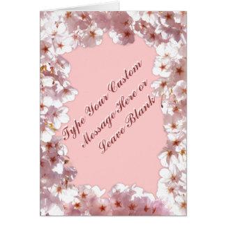 Personalisierte rosa Blüten-Karten-Rosa-Blumen-Kar