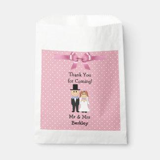 Personalisierte rosa Braut-u. Geschenktütchen