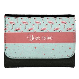 Personalisierte rosa Flamingo-Polka-Punkte