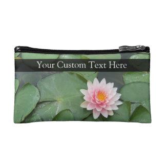 Personalisierte rosa/grüne Lilien-Auflage