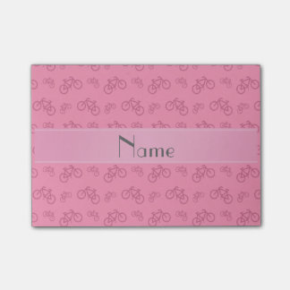 Personalisierte rosa Namensfahrräder Post-it Klebezettel