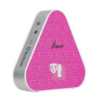 Personalisierte rosa Pandarosanamenssterne Bluetooth Lautsprecher