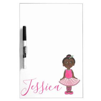 Personalisierte rosa Tutu-Ballett-Tänzer-Ballerina Memoboard
