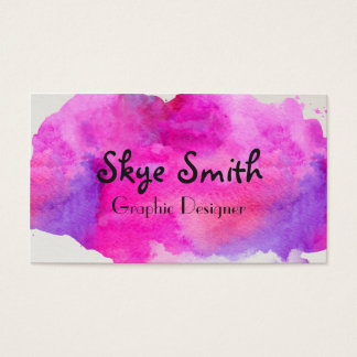 Personalisierte rosa Watercolor-Geschäfts-Karte Visitenkarte