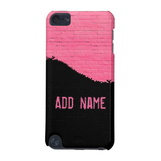 Personalisierte rosa Ziegelstein-Wand iPod Touch 5G Hülle