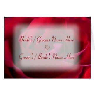 Personalisierte Rosen-Gruß-Karten-Hochzeits-Karte