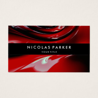 Personalisierte rote Auto-Farben-modernes Visitenkarte