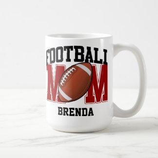 Personalisierte (rote) Fußball-Mamma Tasse