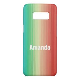 Personalisierte rote gelbe grün-blaue Streifen Case-Mate Samsung Galaxy S8 Hülle
