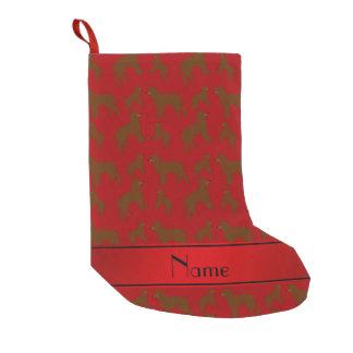 Personalisierte rote irisches kleiner weihnachtsstrumpf