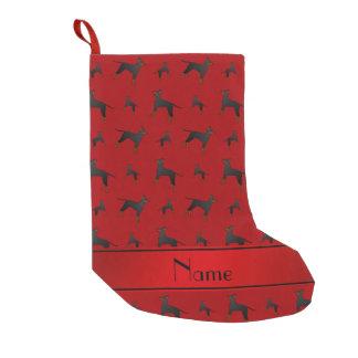 Personalisierte rote Manchester-Terriernamenshunde Kleiner Weihnachtsstrumpf