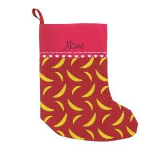 Personalisierte rote Namensbananen Kleiner Weihnachtsstrumpf