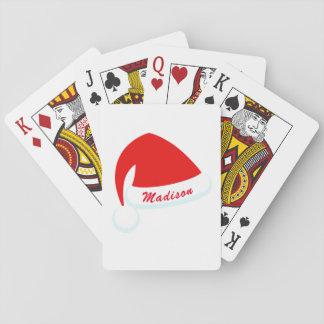 Personalisierte rote u. weiße spielkarten