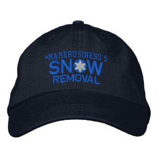 Personalisierte Schnee-Abbau-Schneeflocke im Blau Bestickte Kappe