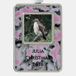 Personalisierte Schnee-Camouflage wählen Farbe Rahmen-Ornament Silber
