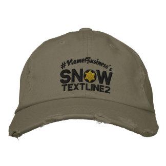 Personalisierte Schnee-Stickerei-Schneeflocke-Art Bestickte Kappe