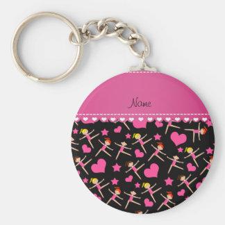 Personalisierte schwarze Mädchen Schlüsselanhänger