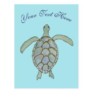 Personalisierte Seeschildkröte-Postkarte Postkarte