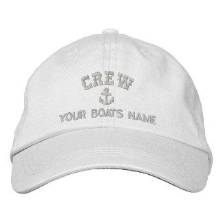 Personalisierte Segeln-Crew Bestickte Kappen