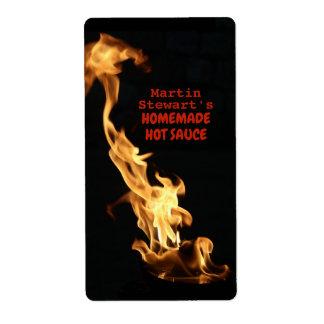 Personalisierte selbst gemachte heiße Soße