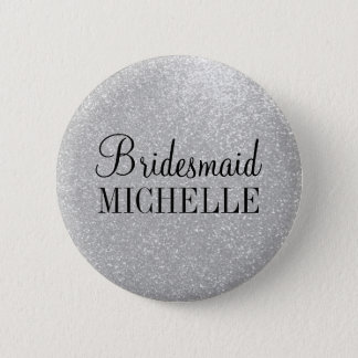 Personalisierte silberne runder button 5,1 cm