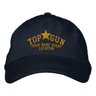 Personalisierte Spitzengewehr-Stern-Stickerei Bestickte Baseballcaps