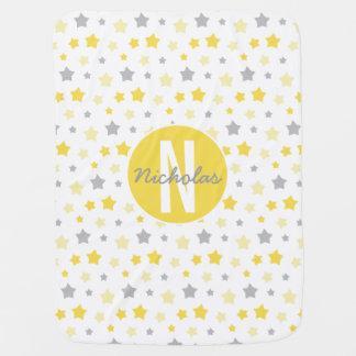 Personalisierte Stern-Baby-Decke, Gelb, Puckdecke