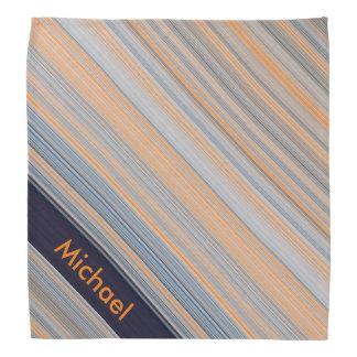 Personalisierte Streifen - Blau und Orange Halstuch