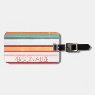 Personalisierte Streifen Kofferanhänger