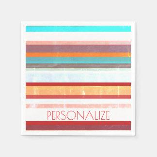 Personalisierte Streifen Papierserviette