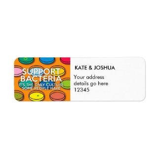 Personalisierte STÜTZbakterien Kleiner Adressaufkleber