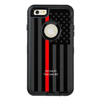 Personalisierte symbolische US-Flaggen-dünne rote OtterBox iPhone 6/6s Plus Hülle