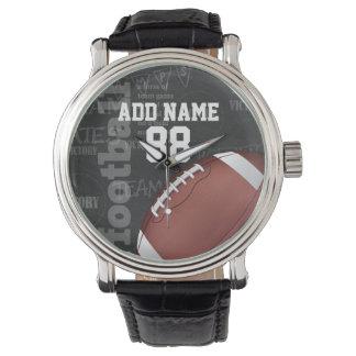 Personalisierte Tafel-amerikanischer Fußball Armbanduhr