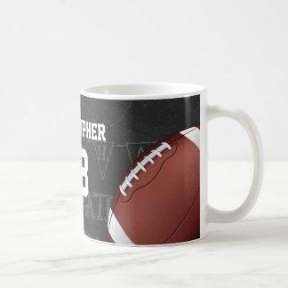 Personalisierte Tafel-amerikanischer Fußball Tasse
