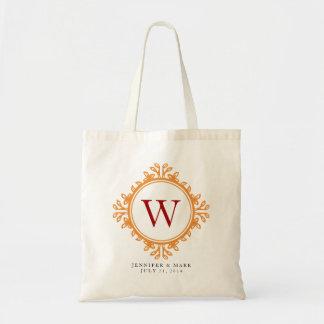 Personalisierte Tasche des belaubten Wreathbraun-M